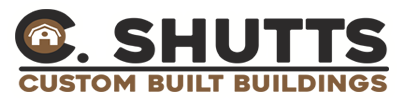 Shutts Custom Buildings, Sheds, Horsebarns and more Logo